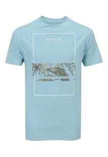Camiseta Hurley Silk Chasing Paradise - Masculina - Azul Claro