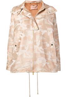 Twin-Set Camouflage Print Jacket - Marrom