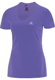 Camiseta Comet Ss Pp Roxa Feminina - Salomon