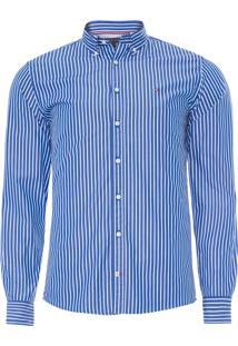 Camisa Masculina Bold Stripe Shirt - Azul