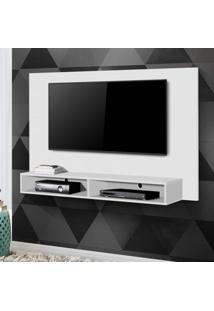 Painel Para Tv Até 50 Polegadas Com Nicho Luna Siena Móveis Branco