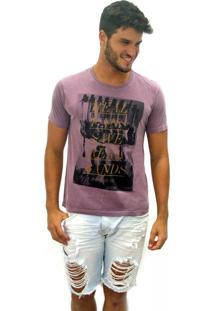 Camiseta Joss Estonada Real Fans Save Real Rands Roxo
