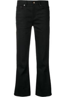 Saint Laurent Calça Jeans Cropped - Preto