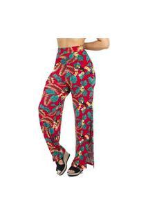 Calça Pantalona Mosaico Feminina