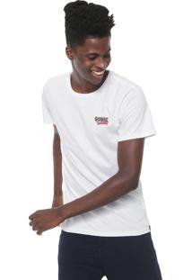 Camiseta Tectoy Sonic Hedgehog Classic Front Brand Branca