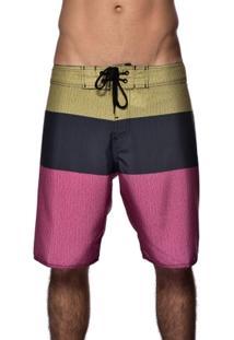 Bermuda Red Nose Boardshort Faixa Textura - Masculino