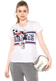 Camiseta Cativa Disney Minnie Branca