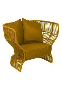 Poltrona De Corda Panamá Amarela