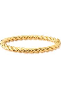 Pulseira De Ouro 18K Bracelete Algema Aro Torcido