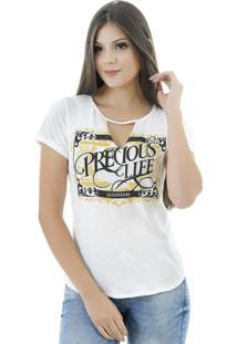 T-Shirt Gatabakana Choker Creme