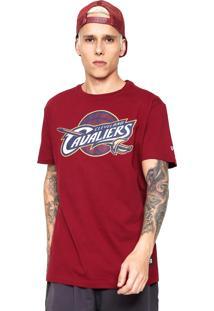 Camiseta New Era Logo Cleveland Cavalier Vinho