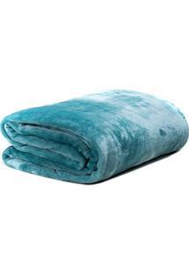 Cobertor Super Soft Queen Size- Verde ÁGua- 220X240Csultan