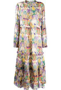 Chufy Vestido Inka Com Estampa - Neutro