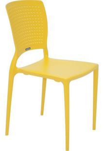 Cadeira Safira Em Polipropileno Tramontina Amarelo