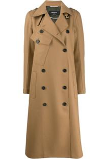 Rochas Double Breasted Trench Coat - Neutro