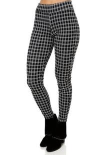 Calça De Tecido Feminina Autentique Preto/Branco