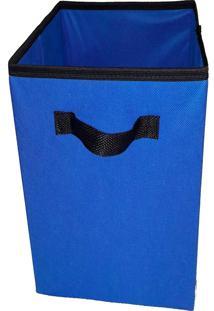 Caixa Organizadora De 28X30X28 Azul Com Alça