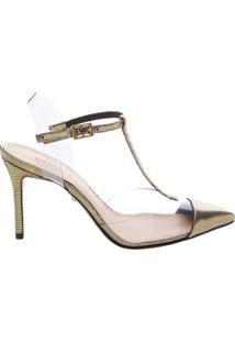 Scarpin Mary Jane Vinil Gold | Schutz