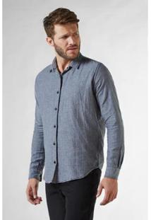 Camisa Reserva Pf Double Face Vichy Pois Masculina - Masculino-Preto