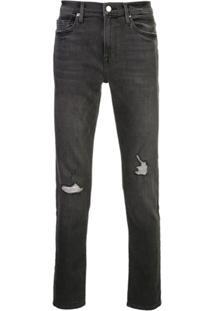 Frame L'Homme Skinny Jeans - Preto