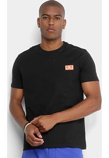 Camiseta Calvin Klein Logo Masculina - Masculino-Preto