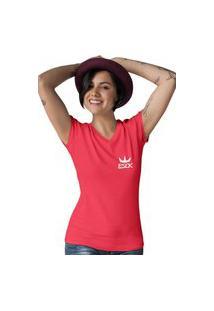 Camiseta Feminina Gola V Ezok King Vermelho