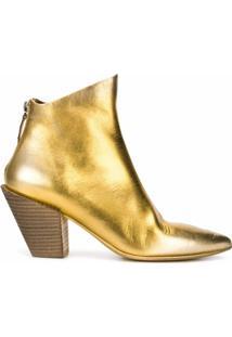 Marsèll Bota Bico Fino Metálica - Dourado
