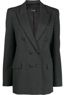 Pinko Fitted Double-Breasted Blazer - Cinza