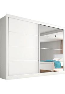 Guarda Roupa Flex 2 Portas Com Espelho Verona Plus– Made Marcs - Branco Acetinado