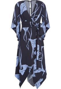 Vestido Faixa Bouganville - Azul