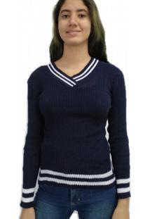 Blusa Bon Tricot Azul - Kanui