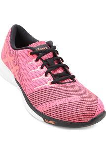 ... Tênis Asics Fuzex Knit Feminino - Feminino-Rosa 443360618fe2d