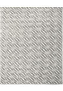 Tapete Classe A- Cinza Claro & Off White- 290X200Cm
