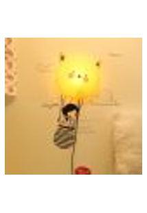 Plafon Infantil 1Lâmpada Gatinho Bivolt