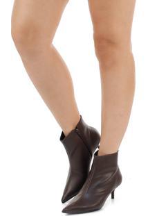 Ankle Boots Salto Fino Lara Zíper