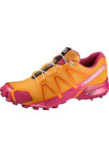 Tênis Salomon Speedcross 4 Feminino Laranja/Rosa