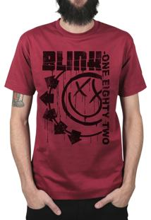 Camiseta Manga Curta 182Life Blink One Vinho