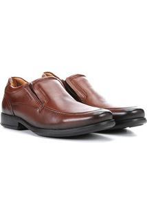 Sapato Social Pegada Elástico Masculino - Masculino-Marrom Claro
