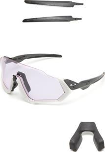 Óculos De Sol Oakley Flight Jacket Branco/Preto
