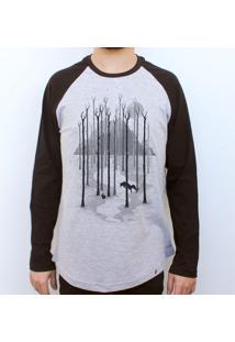Sweet Winter - Camiseta Raglan Manga Longa Masculina