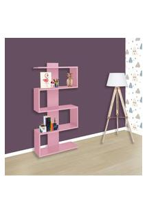 Estante Nicho Decorativo Movelbento Am3087 4 Prateleiras Rosa
