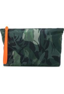 Alexander Mcqueen Camouflage Print Clutch - Green