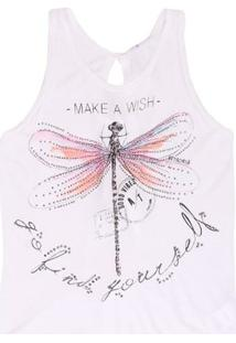 Regata Authoria Malha Dragonfly - Authoria - Feminino-Branco