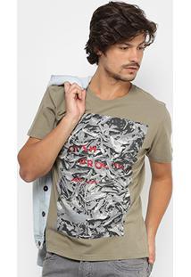 Camiseta Reserva Gola Careca Quem Procura Acha Masculina - Masculino-Verde Militar