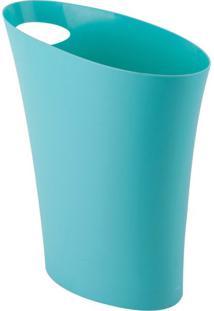 Lixeira Skinny 7 L Azul Celeste