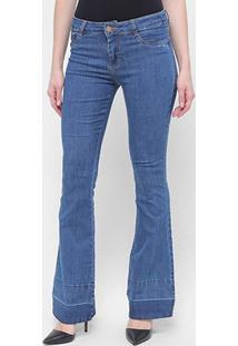 Calça Jeans Flare Sawary Feminina - Feminino