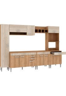 Cozinha Compacta C/Tampo Classic03 Fosco Flex Bordô– Fellicci - Carvalho / Blanche