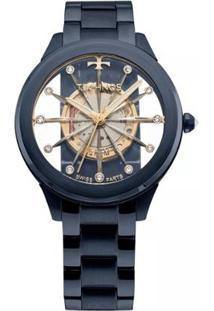 ceff75493cf ... Relógio Feminino Technos Elegance F03101Ad 4W Aço - Feminino-Azul