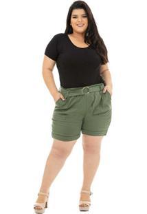 Shorts Clochard Catwalk Plus Size Cw19-5477Co Verde - Kanui