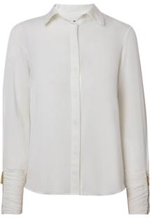 Camisa Bobô Josephine Seda Off White Feminina (Off White, 36)